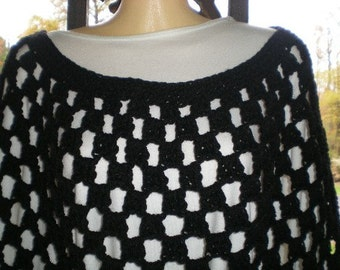 Poncho, Ponchos, Crochet, Plus Sizes,Round Neck ,Womens Fashions