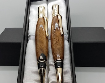 Spalted Live Oak Stylus Pen and Pencil Set