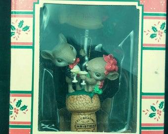 "Enesco Christmas ""Mistle-Toast"" 1989 Treasury of Christmas together NEW"