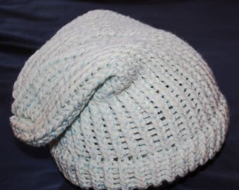Blue and White Adult Sized Slouch Hat
