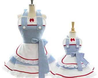 Mama & Me Zauberer von Oz Dorothy Apron Set - Backen w / Mama - Prinzessin Kostüm + Kochen für Kleid Schürze + spielen mit Mama
