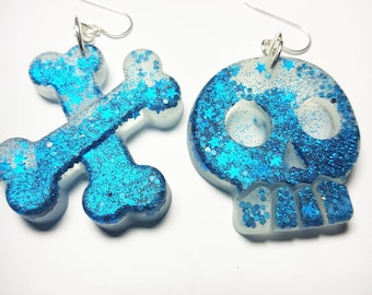 Skull & Bones Glitter Earrings