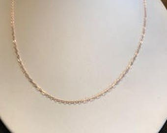 Rose Gold-Filled Finished Chain 1.3mm 18""