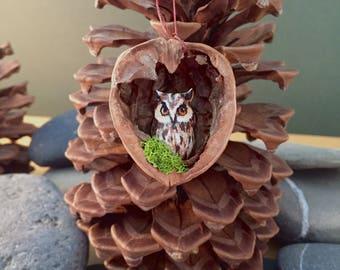 owl christmas tree decor hand painted unique custom made