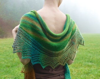 Sunlight on the Forest Floor Lace Shawl PDF Knitting Pattern