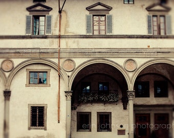 Florence, Italy , street photography, florence photography, brown decor, travel, italy, Piazza Della Santissima Annunziata I F06