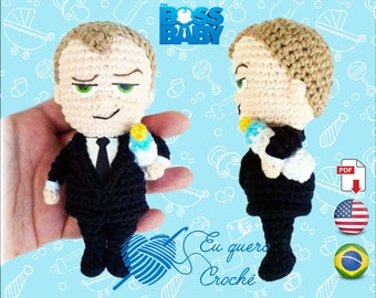 Boss Baby amigurumi pattern PDF ONLY, crochet