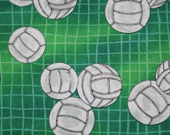 Personalized Green Volleyball Pillowcase with custom name and color of embroidery thread