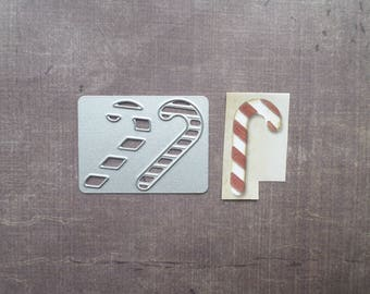 Die cut Stencil Sizzix holiday Christmas candy cane