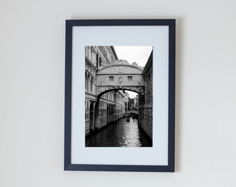 Home Decor//Venice Black and White Photography Print//Wall Decor//Architecture//Print//Home Decor//Gift//New Home Gift//Wall Art