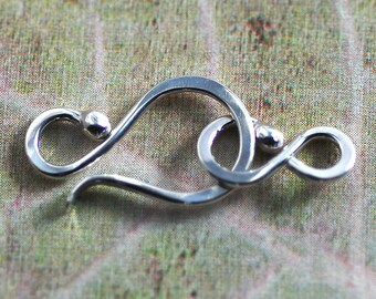 Sterling Silver Hook and Clasp - 18 Gauge Balled End Handmade