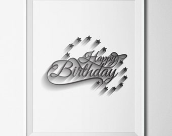 Happy Birthday Printable ~ And happy birthday banner printable black white coloring pages