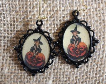 VIntage style Halloween Earrings