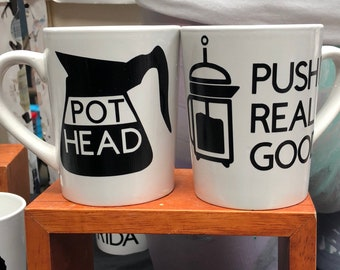 Push it real good 14 oz white ceramic mug
