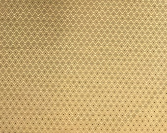 Fabric gold wavy polka dots w54""