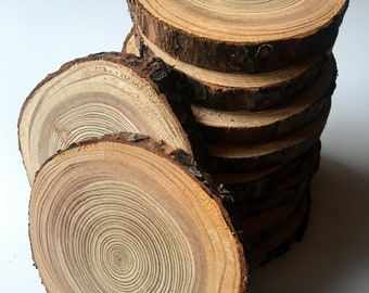 10 PCS |  Larch Tree Slices |Wooden Circles | Wooden Discs | Wooden Slices | Rustic Wood Slices For DIY | Larch Tree | Wood Discs For Craft|