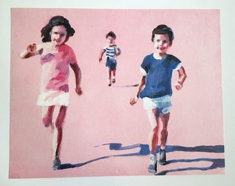 A bright future- illustration paper print- wall art- a3 print