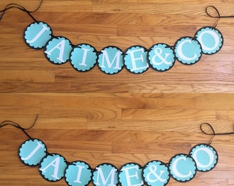 Breakfast at Tiffany's Wedding / Bridal Shower Banner - Engagement Party - Decoration - Bachelorette Party - Reception - Wedding Decor