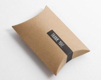 5 Kraft pillow boxes, Kraft gift boxes, Kraft favor boxes, plain Kraft gift box ,small gift box, cute gift box, Kraft box ,gift wrapping