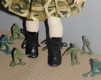 """Black lace up Boots  for  American Girl 18 """" size...  BOOTS ONLY in this listing.   also Wellie wisher size.  choose in options."""