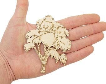 Wooden Tree (10cm) Birch Tree Shape Art Projects Craft Decoration Gift Decoupage Ornament MG000451