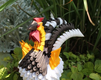 3D Origami Rooster