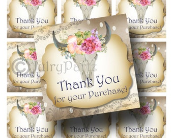 48-Summer Floral Tags•Gift Tags•Paper Tags•Price Tags•Clothing Tags•Thank you for your purchase tags