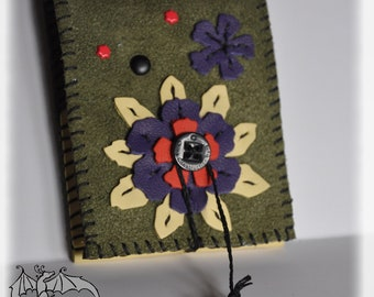 A7, zachte Suede, leer bloemen in leder, verwijderbare en oplaadbare notebook, portemonnee leer voor boek boeken