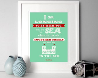 Typographic Print, romantic quote, illustrated quote, Dracula quote, literary quote, romantic print, dreamy literary quote, gothic quote