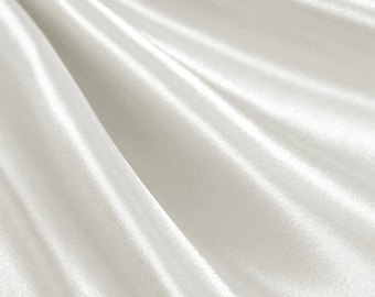 Ivory Satin Fabric - by the yard