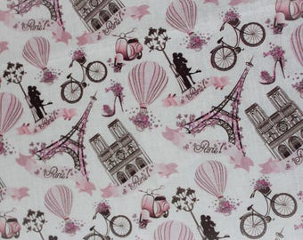 45 X 50 cm digital print cotton Paris fabric coupon