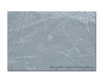 Outdoor Hockey Rink Photography ~ Ice Skating ~ Frosted, Arena Lounge Decor, 8x10 or 11x14, Seasonal Wall Art Accent, Sports Enthusiast
