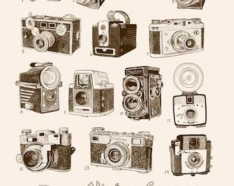 Vintage Cameras Print