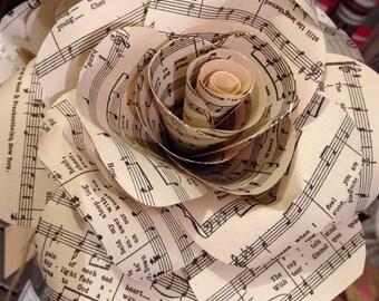 Handmade music note paper flowers