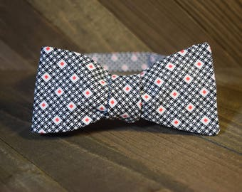 Black & Red Self Tie Bow Tie