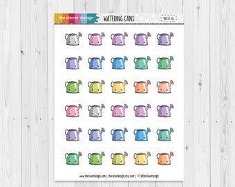 Watering Cans   Water the Plants   Kawaii Watering Cans   Planner Stickers   18037-04