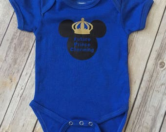 Future Prince Charming Bodysuit * Prince Charming * Disney Prince Charming Bodysuit * Gender Reveal * Baby Shower Gift