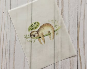 Sloth Coffee Vellum TN Insert