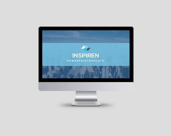 Clean Business PowerPoint Template, PowerPoint Presentation, Instant Download - V02