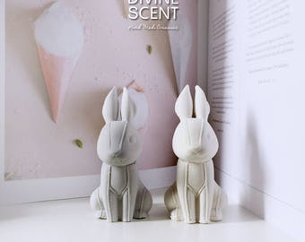 Stitch bunnies - Plaster air freshener / Plaster diffuser / home and car fragrances / home decor / ornament