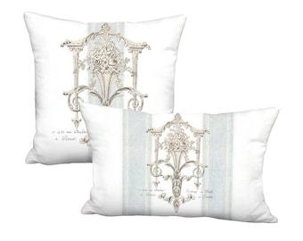 Château de Versailles French Country Grain Sack Style Pillow Cover - Pillow - 12x18 12x20 14x20 14x26 16x24 16x 18x 20x 22x 24x 26x 28x Inch