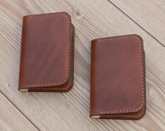 Leather Card Wallet, Leather Card Holder Wallet, Mens Wallet, Small Wallet, Minimalist Wallet, Slim Card Wallet, Bilfold Wallet