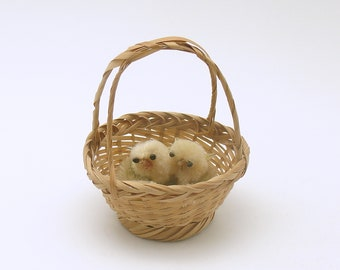 Vintage Easter Decoration Chicks in Basket