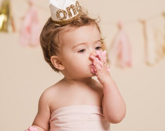 First Birthday Outfit Girl || 1st Birthday Crown Headband ||  First Birthday Girl Outfit || First Birthday Cake Smash