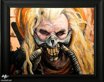 Immortan Joe - Original Drawing - Mad Max Fury Road Colonel Joe Moore Post Apocalypse Dark Art Pop Horror Sci Fi Fantasy Dystopia Lowbrow