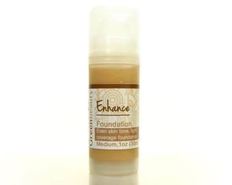 Liquid Foundation, 1oz, Medium Shade, tinted face cream, mineral foundation, natural foundation, mineral makeup cream, tinted moisturizer