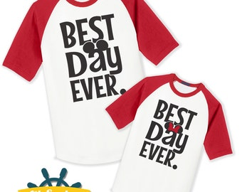Best Day Ever Shirt, Mouse Ears Raglan, Infant, Child, Youth, and Adults, Disney Vacation, Disney Birthday, Disneymoon