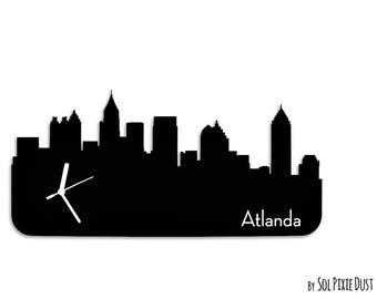 Atlanda  Skyline - Silhouette - Wall Clock