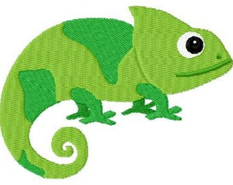 Embroidery Design Chameleon 4'x4' - DIGITAL DOWNLOAD PRODUCT