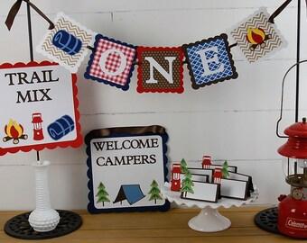 Camp d'anniversaire paquet, soirée Camping, Smores,